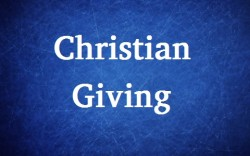 Tithing and Christian giving